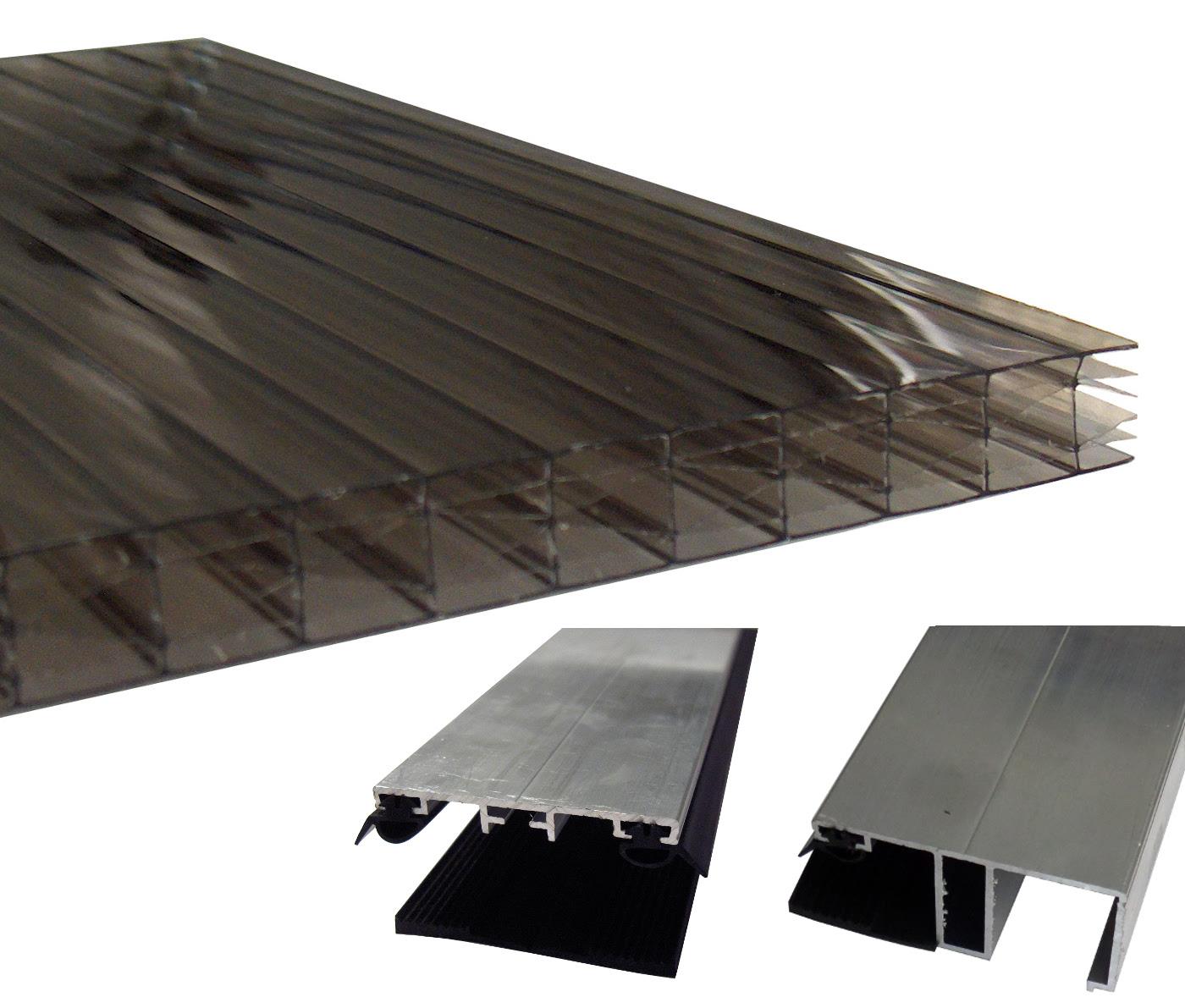 Stegplatten 16mm bronze Breite: 98cm