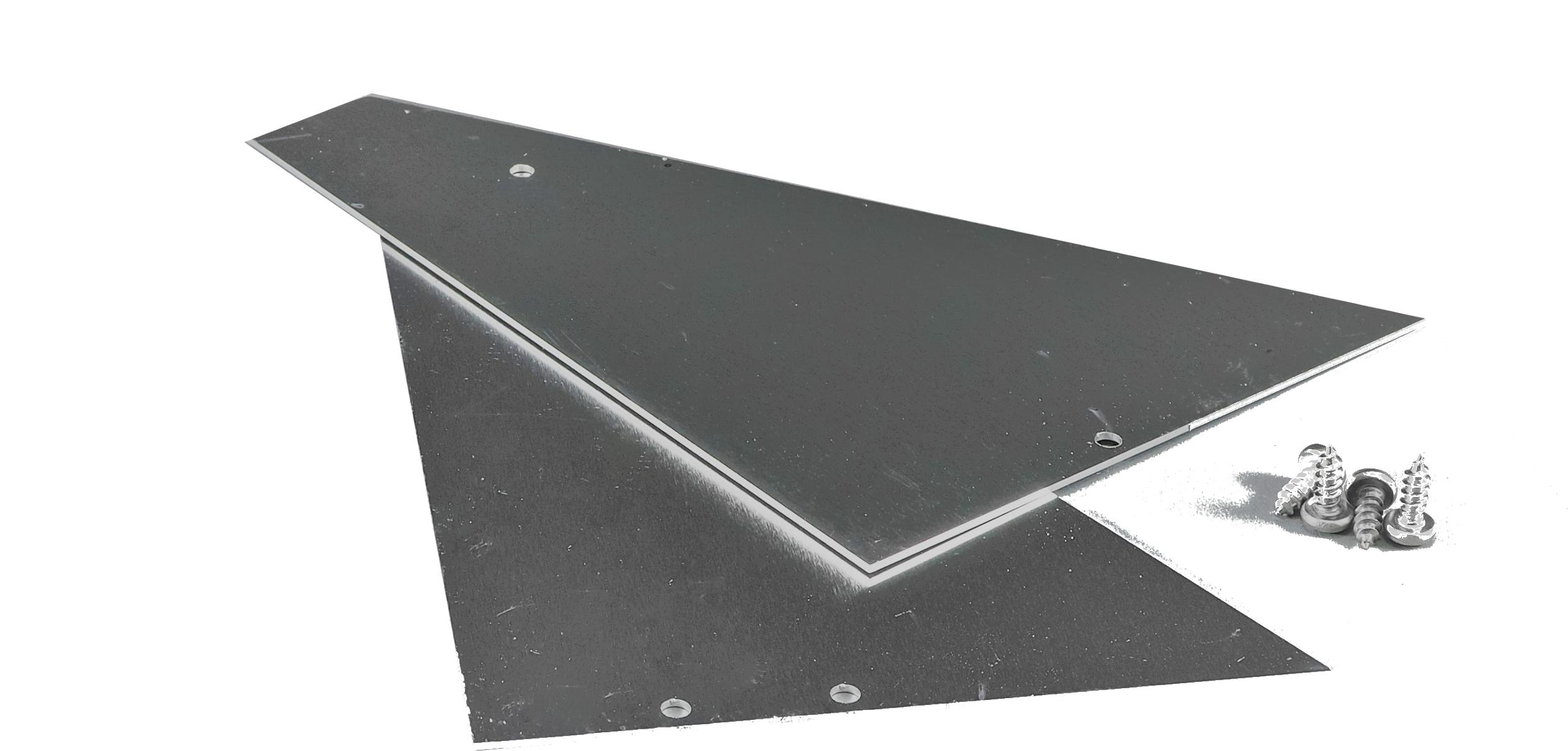 Alu-Seitenteile für Wandanschluß 120 mm