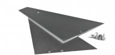 Alu-Seitenteile für Wandanschluß mit 120 mm Schenkellänge