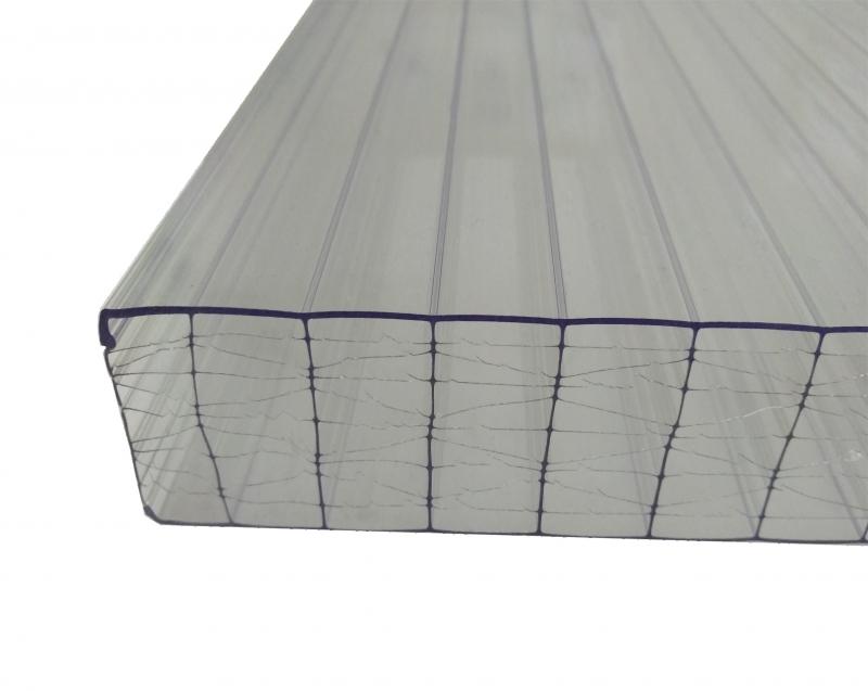 Stegplatten 32mm 0.98x3m X-Struktur klar farblos UV