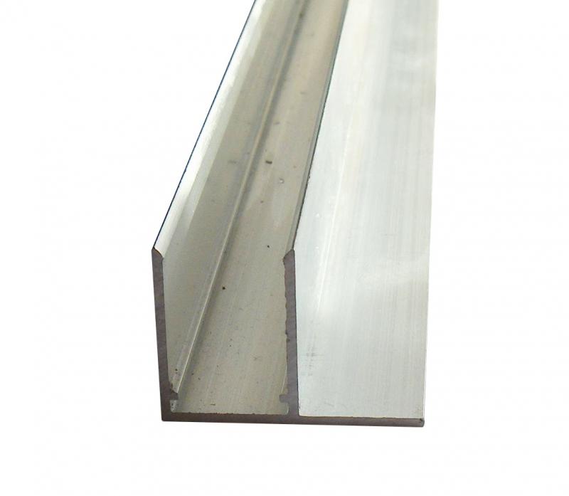 F-Profil 10mm für Stegplatten 10mm L: 1500mm