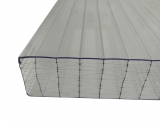 Stegplatten 32mm 0.98x1m X-Struktur klar farblos UV