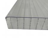 Stegplatten 32mm 0.98x6m X-Struktur klar farblos UV