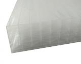 Stegplatten 32mm 1.25x1m X-Struktur opal UV