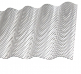 Acrylwelle 2.8mm Wabe Sinus 76/18 klar/farblos 4.0m