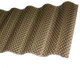 Polycarbonat Welle 2.8mm Wabe Sinus 76/18 bronze 4.5m