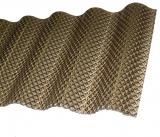 Polycarbonat Welle 2.8mm Wabe Sinus 76/18 bronze 7.0m