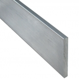 Aluprofil Flach Flachmaterial Alu Flachstab EN AW-6060 T66 (ALMGSI 0,5 F22) gepresst, warm ausgelagert, Länge: 1 m, Ausführung: pressblank